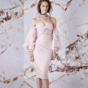 ASILIO Candy Eyed Dress Stripe White/Pink 2/4 Sm